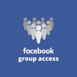 Facebook group access