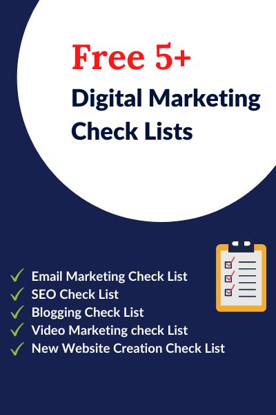 Free 5+ Digital Marketing Check Lists